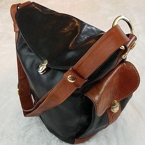 Genuine Marino Orlandi Italian leather bucket bag